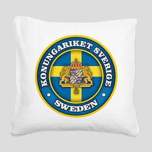 Swedish Medallion Square Canvas Pillow