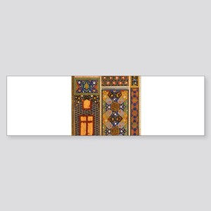 Abstract Arabian patterns Bumper Sticker