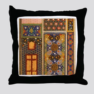 Abstract Arabian patterns Throw Pillow