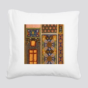 Abstract Arabian patterns Square Canvas Pillow