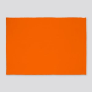 5'x7'area Rug Uni Orange