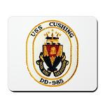 USS CUSHING Mousepad