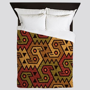 Tribal Art Pattern Queen Duvet
