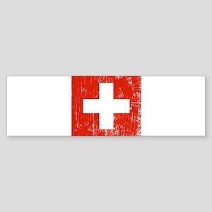 Vintage Switzerland Bumper Sticker