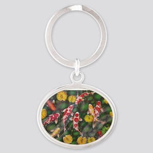 Koi Fish Cool Oval Keychain