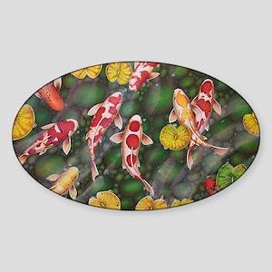 Koi Fish Cool Sticker (Oval)