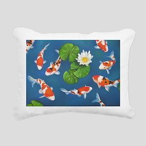 Koi Fish Cool Rectangular Canvas Pillow