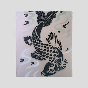Koi Fish Cool Throw Blanket