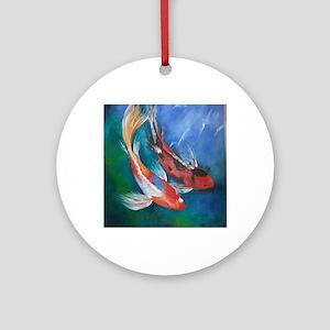 Koi Fish Cool Round Ornament