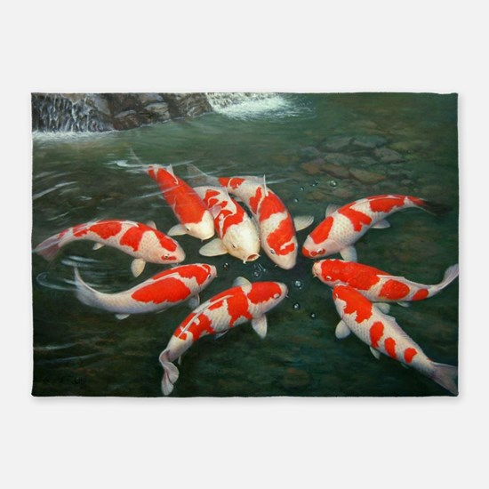 Koi Fish Cool 5'x7'Area Rug