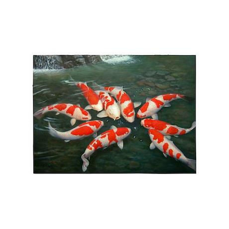 koi fish cool rug