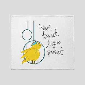 Life is Sweet Throw Blanket
