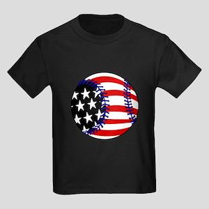 Baseball American Flag T-Shirt