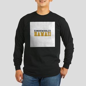 Kamaniwanaleiu, Hawaii Long Sleeve Dark T-Shirt