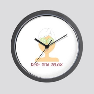 Rest & Relax Wall Clock