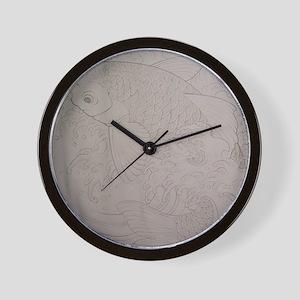 Koi Fish Feng Shui Wall Clock
