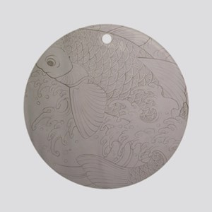 Koi Fish Feng Shui Round Ornament