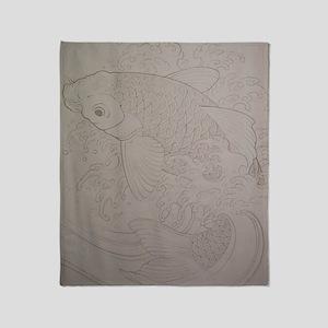 Koi Fish Feng Shui Throw Blanket