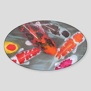 Koi Fish Feng Shui Sticker (Oval)