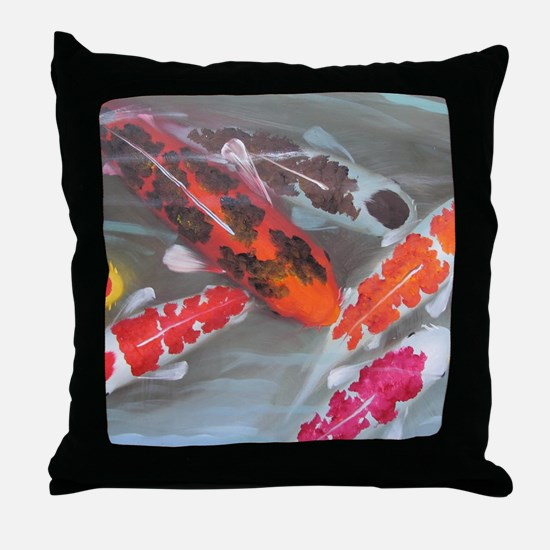Koi Fish Feng Shui Throw Pillow