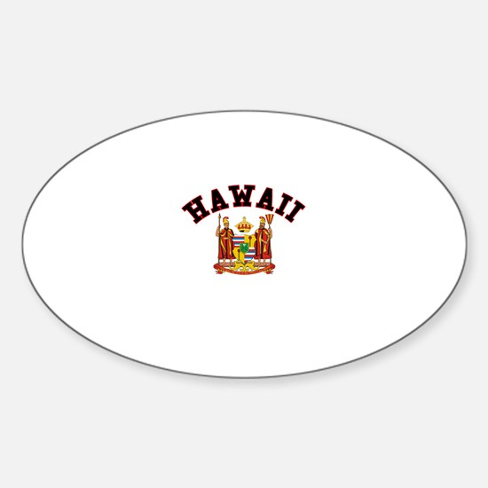 Hawaii Coat of Arms Oval Decal