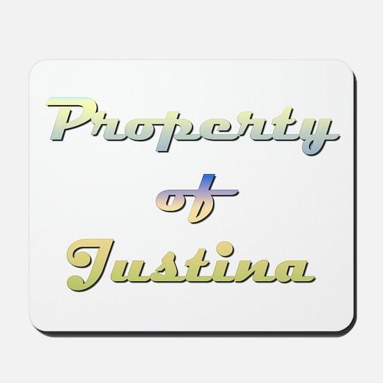 Property Of Justina Female Mousepad