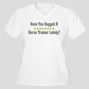 Hugged Horse Trainer Women's Plus Size V-Neck T-Sh