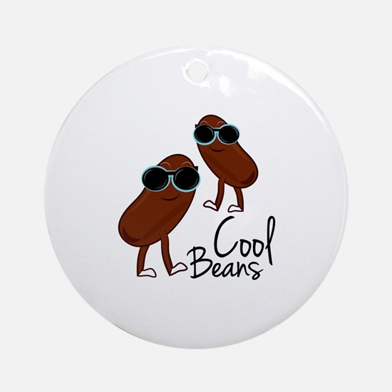Cool Beans Ornament (Round)