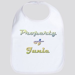 Property Of Junie Female Cotton Baby Bib