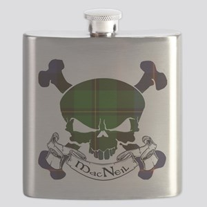 MacNeil Tartan Skull Flask