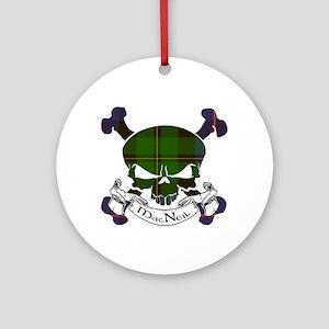 MacNeil Tartan Skull Ornament (Round)