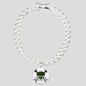 MacNeil Tartan Skull Charm Bracelet, One Charm