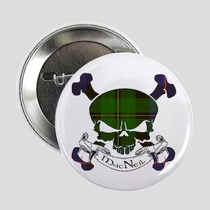 """MacNeil Tartan Skull 2.25"""" Button"""