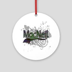 MacNeil Tartan Grunge Ornament (Round)