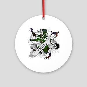 MacNeil Tartan Lion Ornament (Round)
