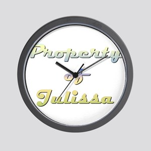 Property Of Julissa Female Wall Clock