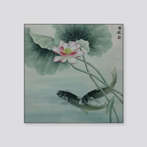 """Koi Fish Cute Square Sticker 3"""" x 3"""""""