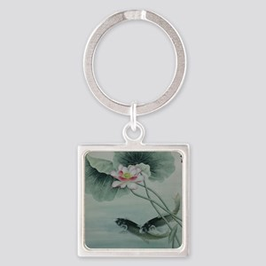 Koi Fish Cute Square Keychain