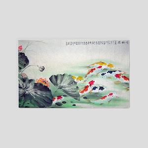 Koi Fish Cute 3'x5' Area Rug