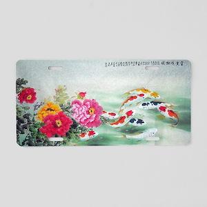 Koi Fish Cute Aluminum License Plate