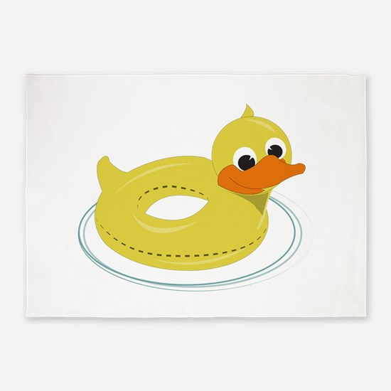 Duck Pool Toy 5'x7'Area Rug