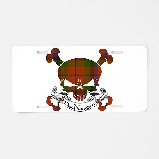 MacNaughton Tartan Skull Aluminum License Plate