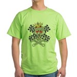 Race Fashion.com Skull Green T-Shirt