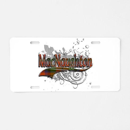 MacNaughton Tartan Grunge Aluminum License Plate