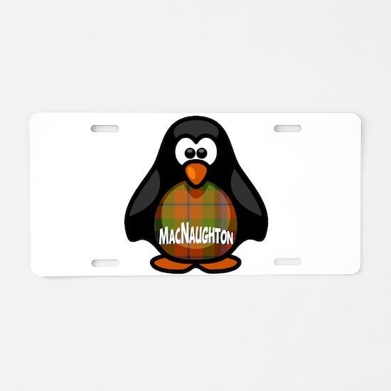 MacNaughton Tartan Penguin Aluminum License Plate