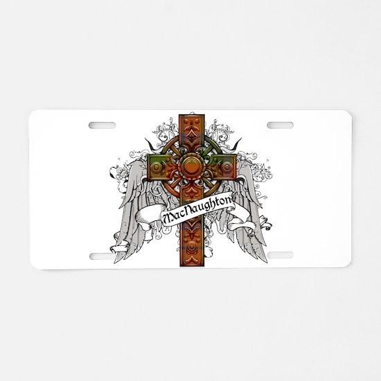 MacNaughton Tartan Cross Aluminum License Plate