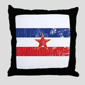 Vintage Yugoslavia Throw Pillow