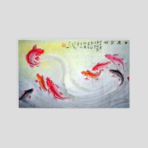 Koi fish 3'x5' Area Rug