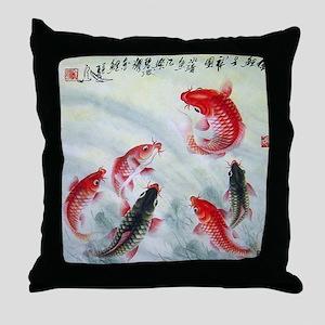 Koi fish Throw Pillow