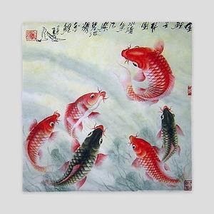 Koi fish Queen Duvet